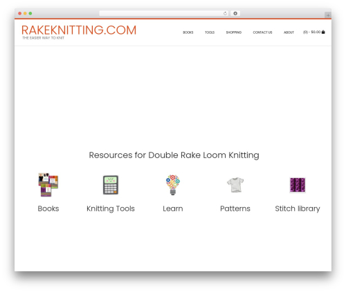 Conica theme WordPress - rakeknitting.com