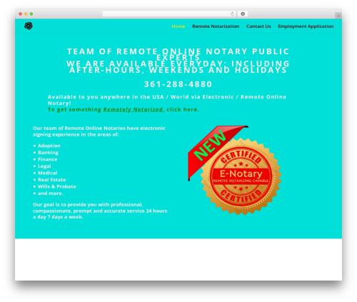 Divi WordPress website template - texasnotarypublic.net