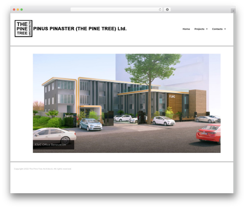 Grand-Popo free WordPress theme - thepinetreearchitects.com