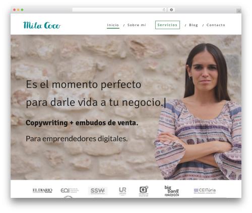 Minus WordPress theme - milacoco.com