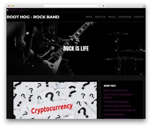 Music Lite premium WordPress theme - roothogmusic.com