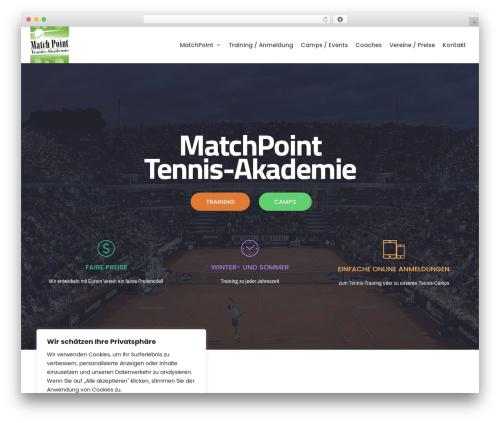 neve premium WordPress theme - matchpoint-tennis.org