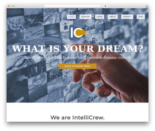 Optima WordPress website template - intellicrew.com