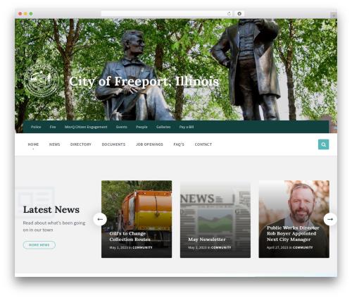 Pressville top WordPress theme - cityoffreeport.org