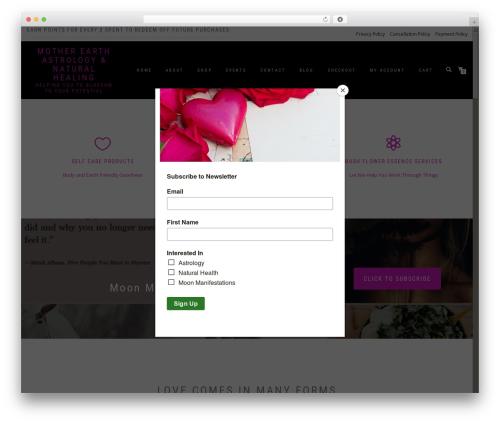ShopIsle PRO WordPress ecommerce template - motherearthastrology.com