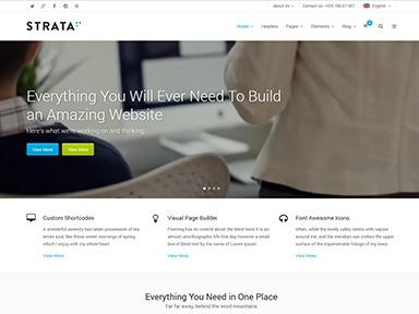 Strata WordPress theme design