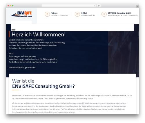 Tectxon best WordPress theme - envisafe.de