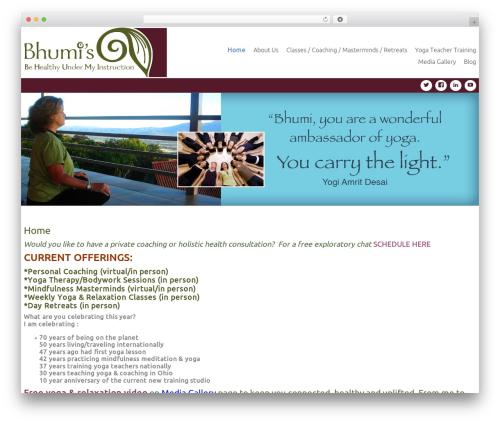Theme WordPress Celestial - bhumiyoga.com