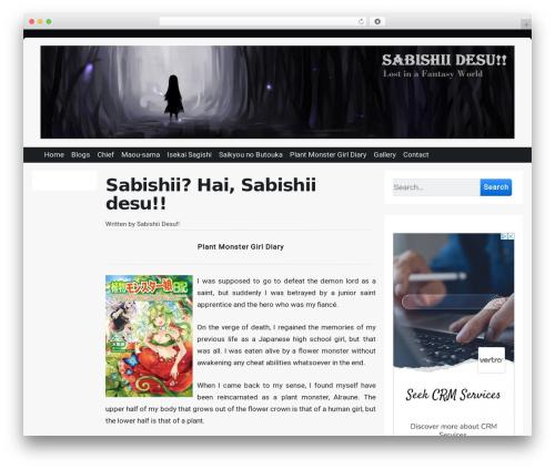 Theme WordPress Page Speed - sabishiidesu.com