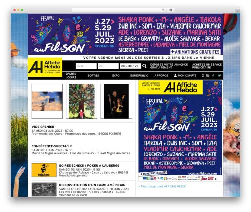 TheMotion Lite best free WordPress theme - affichehebdo.fr