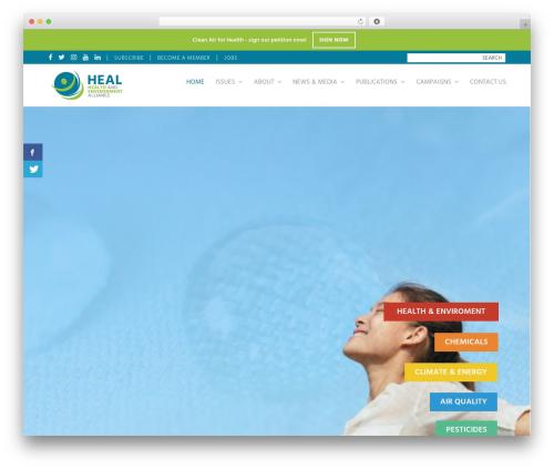 Total best WordPress template - env-health.org