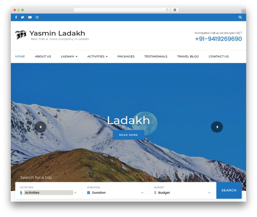 Free WordPress Travel Agency Companion plugin - yasminladakh.com