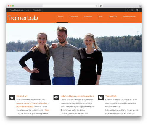 university best free WordPress theme - trainerlab.fi