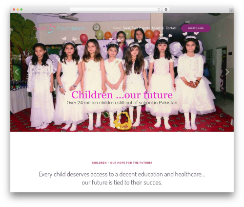 WordPress theme Children Charity - sarahfoundationworldwide.com