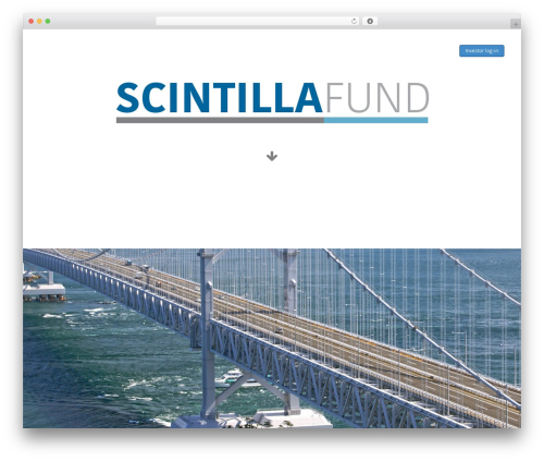 WordPress theme Wipi - scintillafund.com