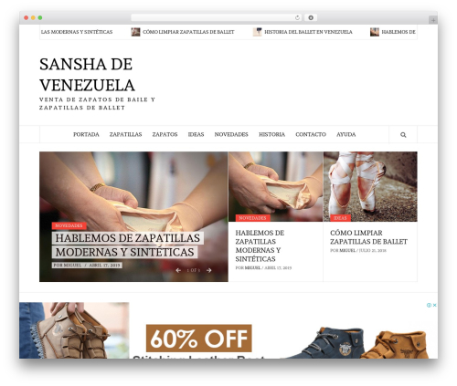 WordPress website template Daily Magazine - sansha.com.ve