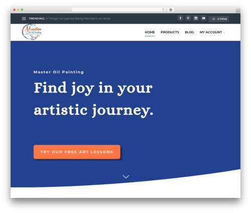 WordPress website template Extra - masteroilpainting.com