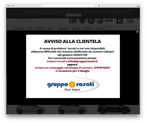 WP template WebSparK Theme - grupporosati.it