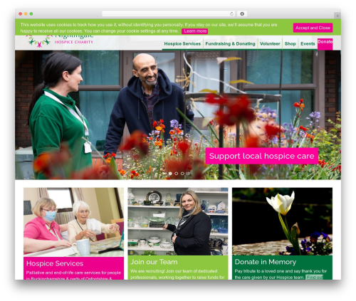 WP theme Bootstrap Basic4 - fnhospice.org