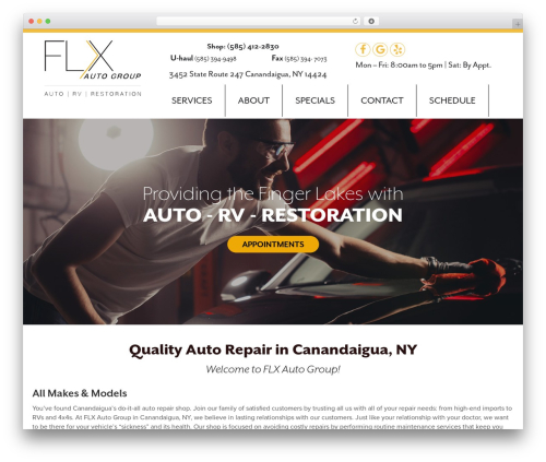 Autoshop Solutions Child top WordPress theme - flxautogroup.com