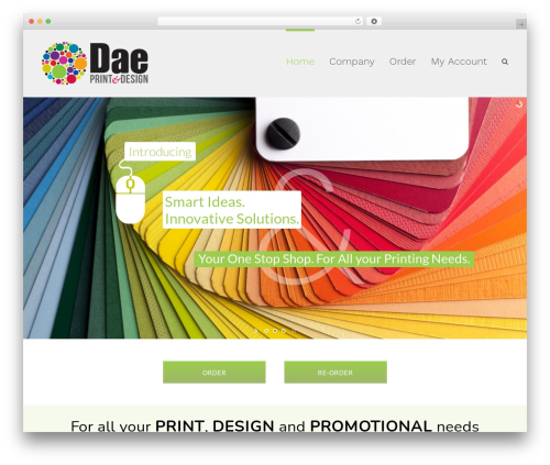 Avada theme WordPress - daeprint.com