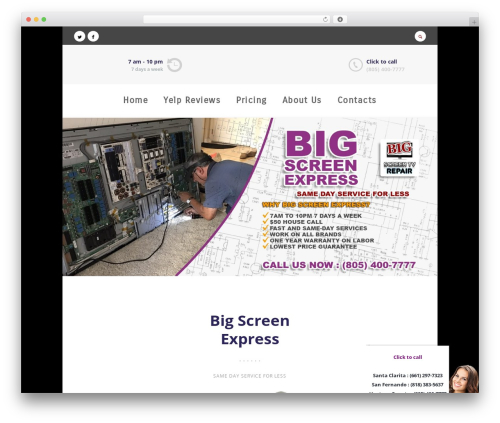 Free WordPress WP Yelp Review Slider plugin - bigscreenexpress.com