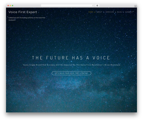 BeOnePage free WP theme - voicefirst.expert