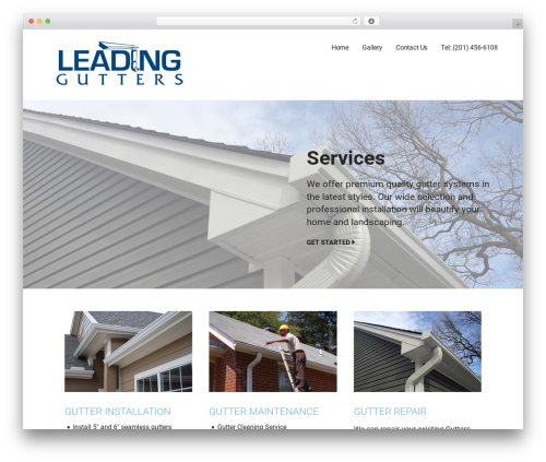 Best WordPress theme Mins - leadinggutter.com