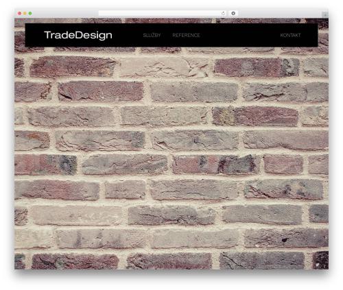 Best WordPress theme Skylar - tradedesign.cz