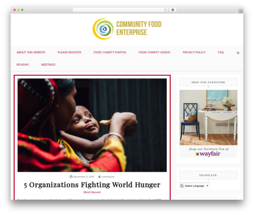 Blog Path food WordPress theme - communityfoodenterprise.org