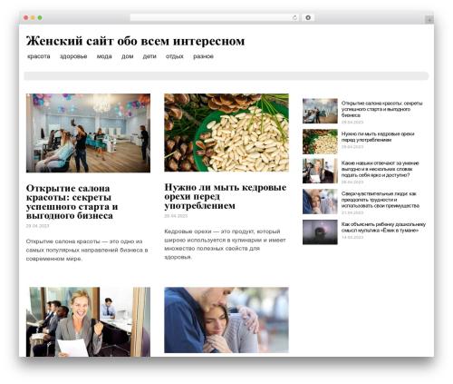 Blog Writer WordPress blog template - jt1.ru