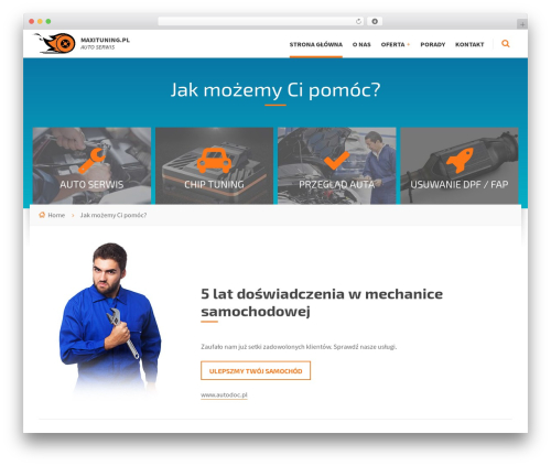 Blue Collar WordPress theme - maxituning.pl