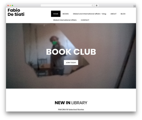 Book Club WordPress theme design - acabit.net