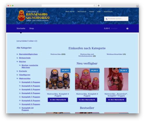 Boutique free WordPress theme - russische-geschenke.de