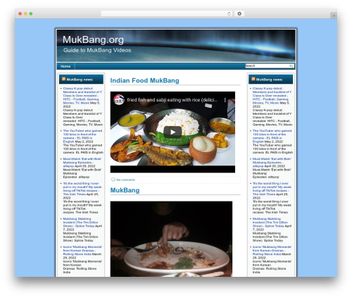 Celestial Aura WordPress template - mukbang.org