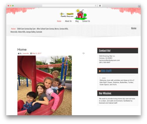 childcare WordPress template free download - hammondfamilydaycare.com