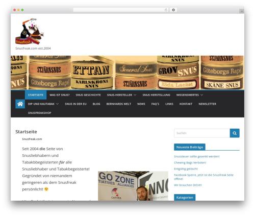 ColorMag theme WordPress free - snusfreak.com