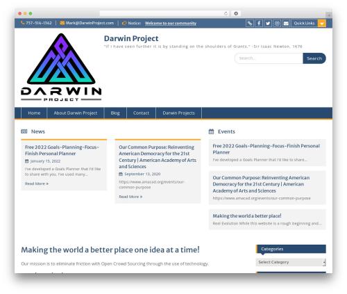 Education Hub free WordPress theme - darwinproject.com
