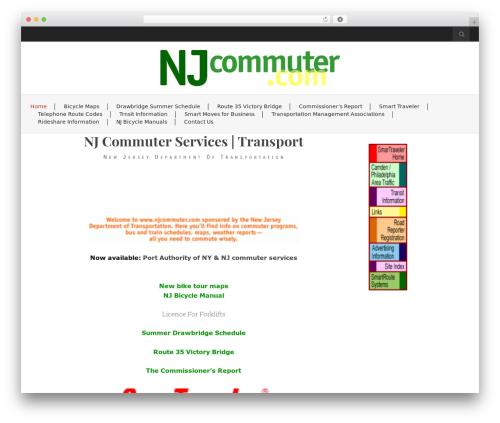 Flat White free website theme - njcommuter.com