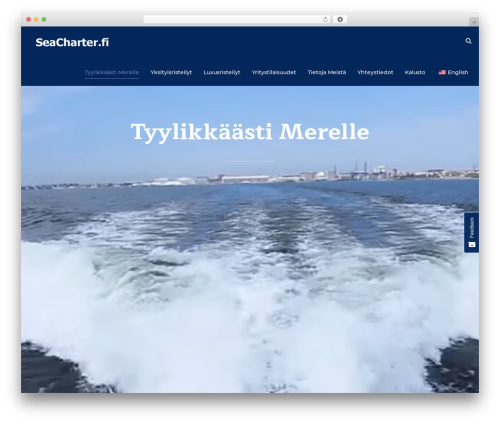 Inspiro WordPress theme - seacharter.fi