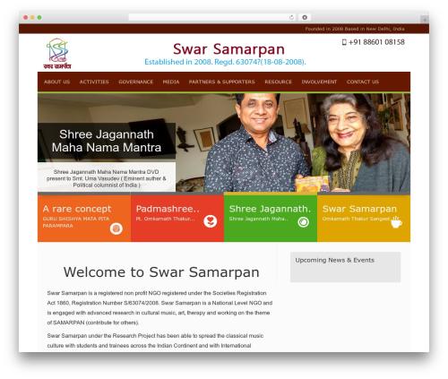 Linofeast WordPress theme - swarsamarpan.org