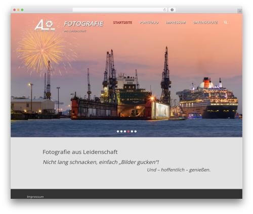Parallax Frame premium WordPress theme - ljachenko.com