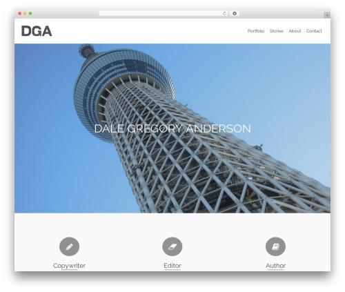 Pinnacle best free WordPress theme - dalegregoryanderson.com