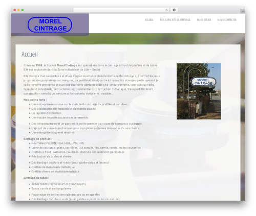 Ravenna WordPress theme - morel-cintrage.com