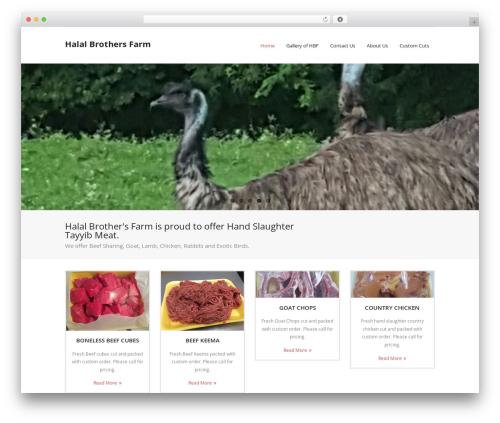 Renden free WordPress theme - halalbrothersfarm.com