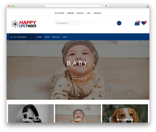 SparkleStore WordPress template free download - happylifefinder.com