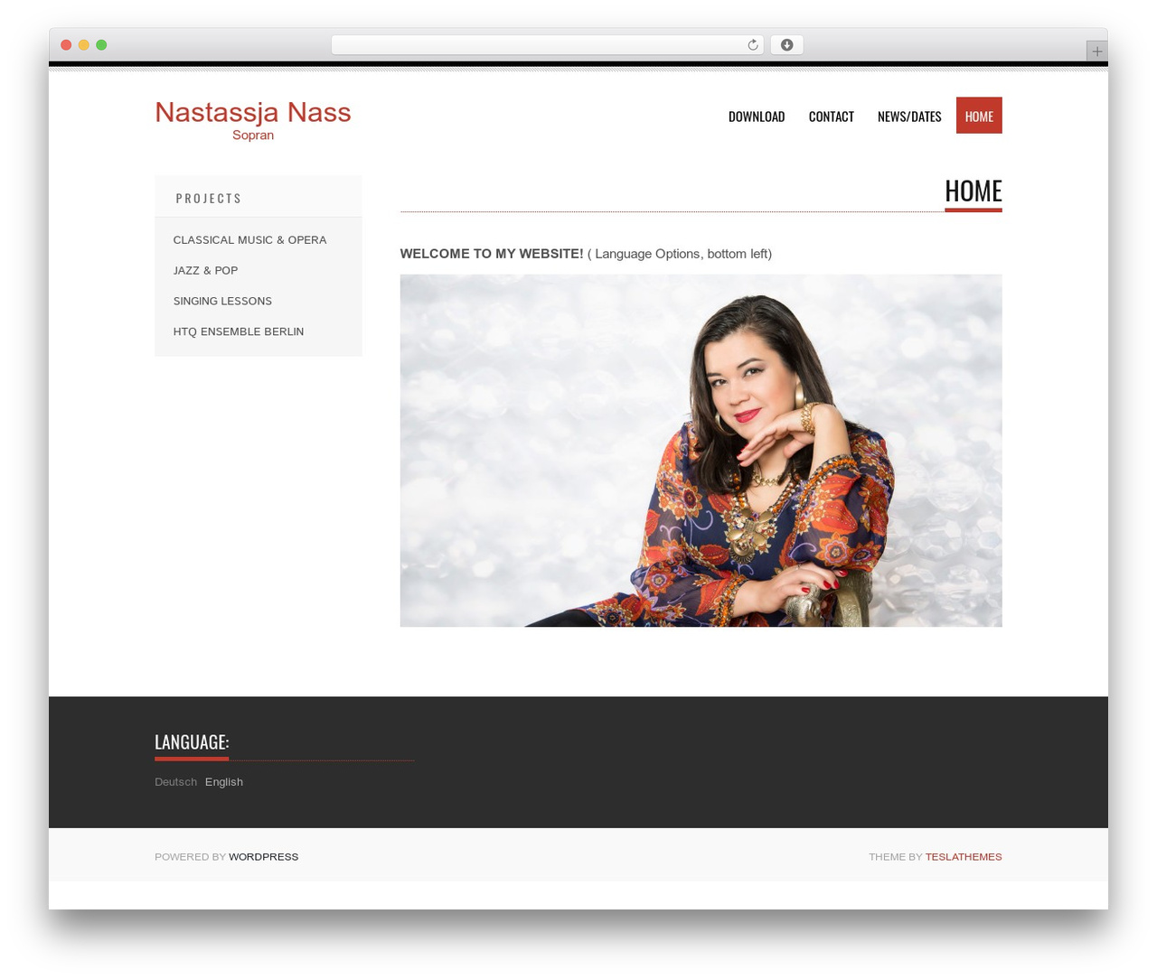 Tesla template WordPress free - nastassjanass.com