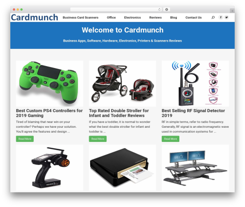 The7 company WordPress theme - cardmunch.com