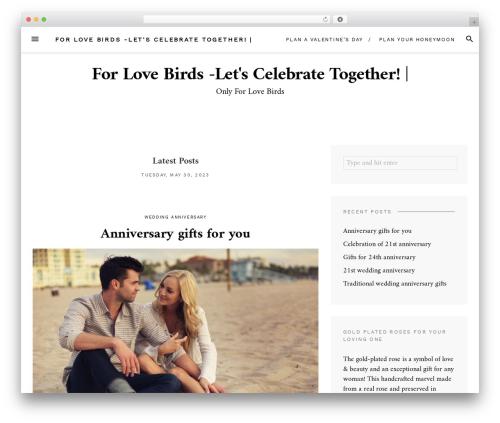 Theme WordPress Blover - 2lovebirds.com.au