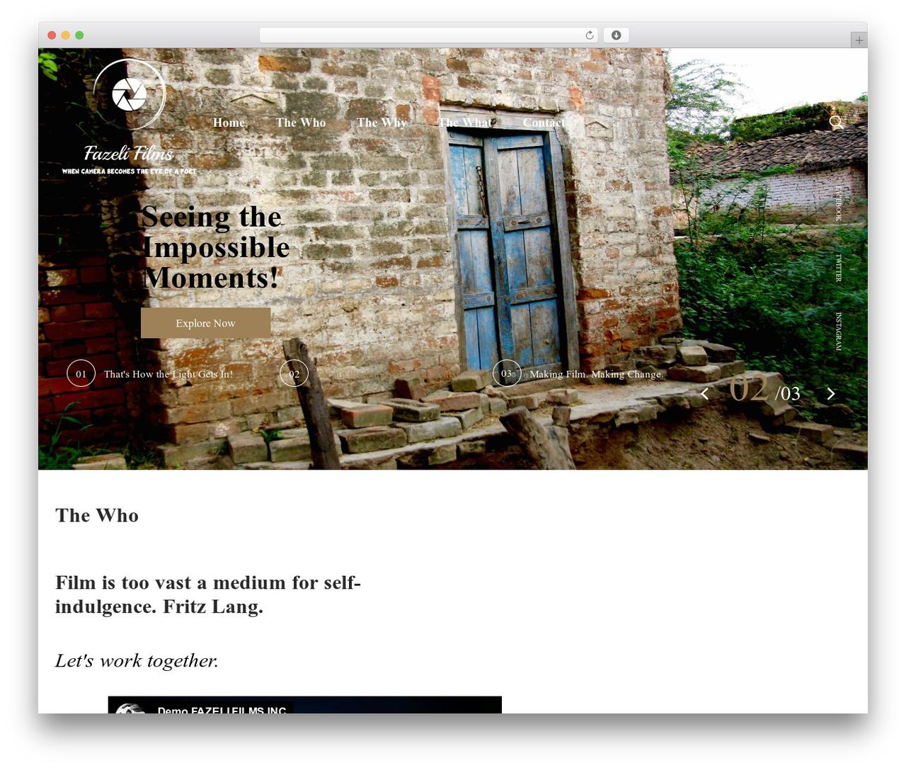 Theme WordPress filmic - fazelifilms.com
